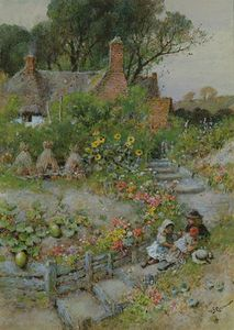 William Stephen Coleman - Cottage Garden In Summer