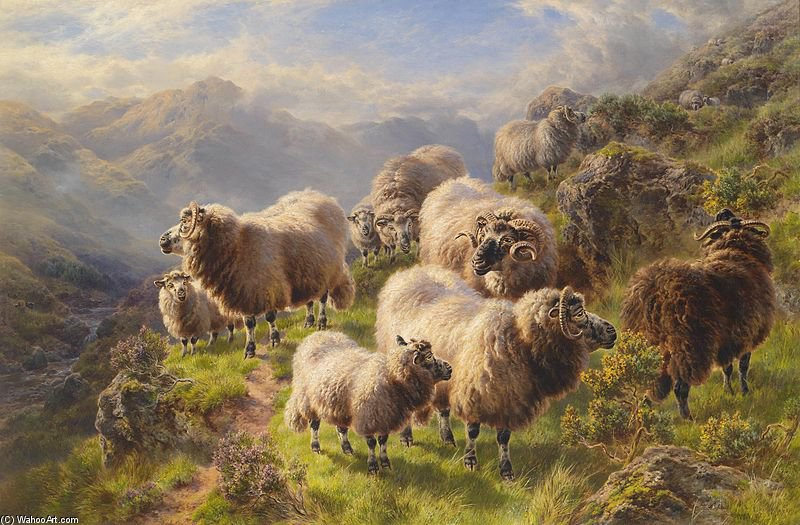 Highland Wanderers by William Watson (1881-1968, United Kingdom) | Reproductions William Watson | WahooArt.com