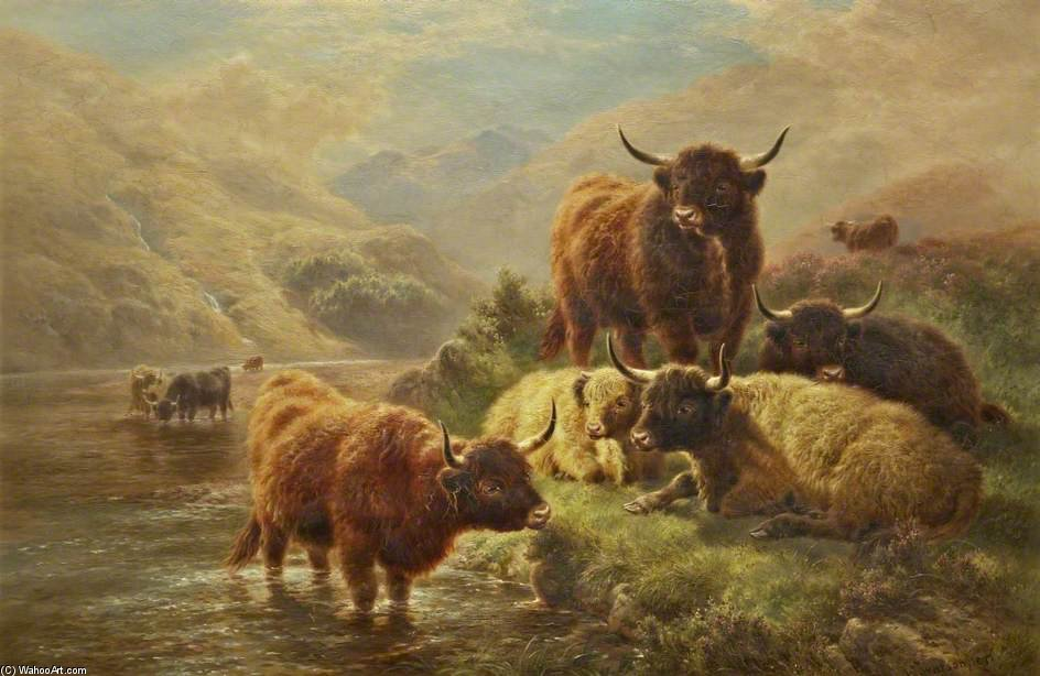 On The Goil, Glen Goil, Argyllshire by William Watson (1881-1968, United Kingdom) | Museum Quality Reproductions | WahooArt.com