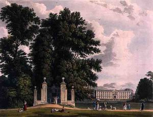 William Westall - Entrance To The Avenue From Clare Hall Piece