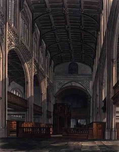 William Westall - Interior Of St. Mary-s Church, Cambridge