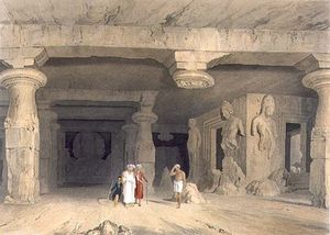 William Westall - Interior Of The Great Cave Temple Of Elephanta