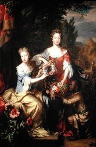 Willem Wissing - Portrait Of Lady Frances Lady Conings And Lady Katherine Jones