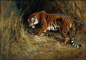 William Arnold Woodhouse - A Prowling Tiger