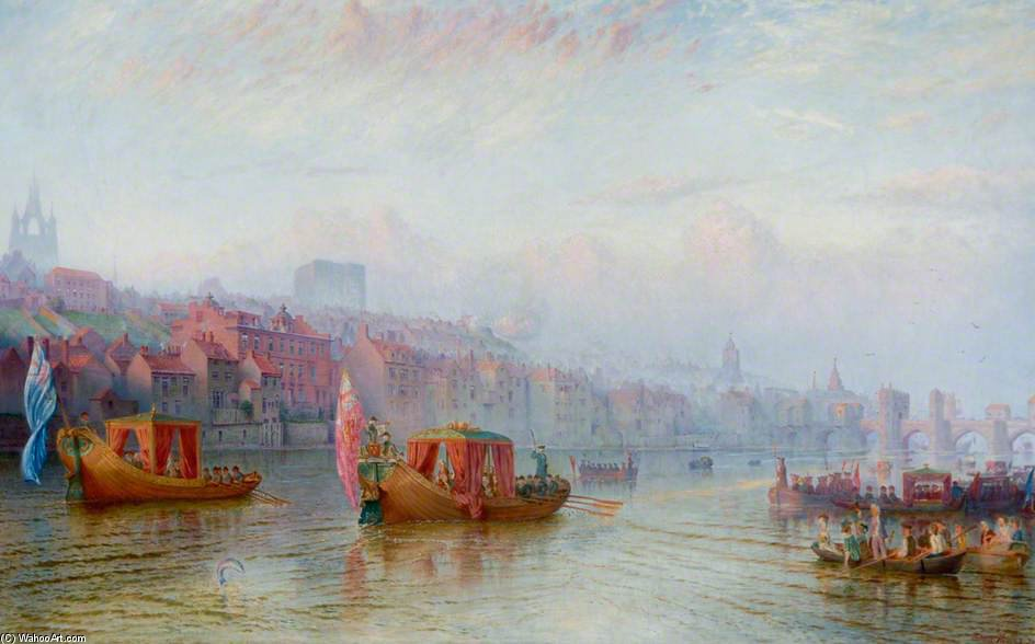 Barge Day On The Tyne by Wilson Hepple (1854-1937, United Kingdom)