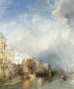 James Baker Pyne - View Of The Custom House From The Thames