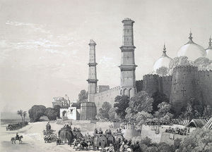 James Duffield Harding - Entering His Palace In Lahore
