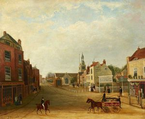 James Pollard - View Of Hammersmith Broadway And Queen Street