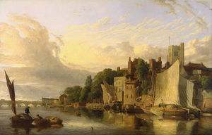 James Stark - Lambeth From The River Looking Towards Westminster Bridge