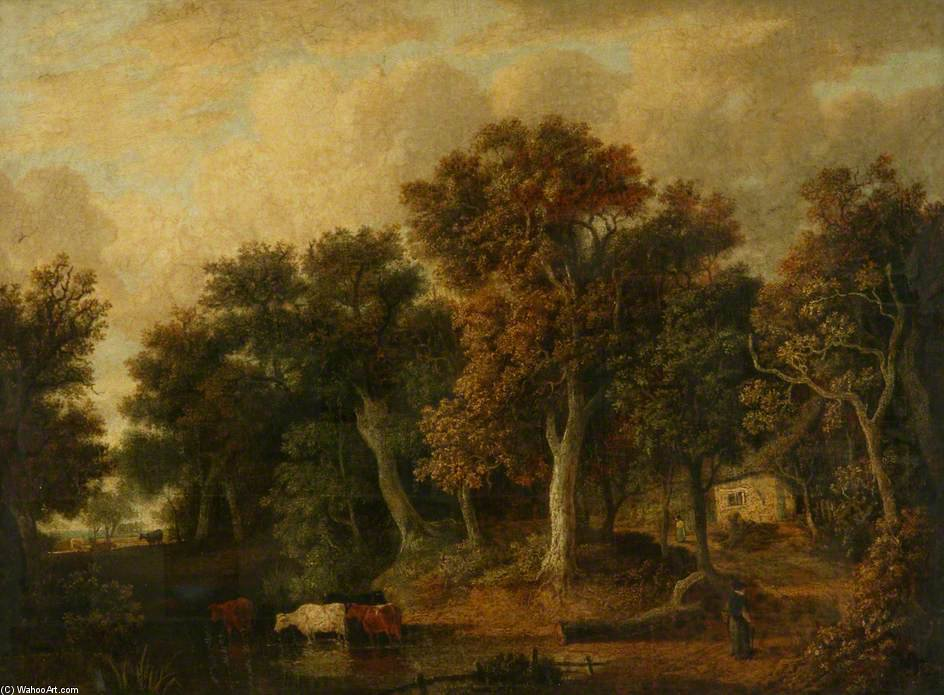 Landscape In Norfolk by James Stark (1794-1859, United Kingdom) | Museum Art Reproductions James Stark | WahooArt.com