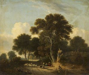 James Stark - Landscape With Sheep