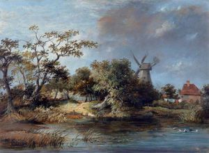 James Stark - Ponds And A Windmill, Hastings
