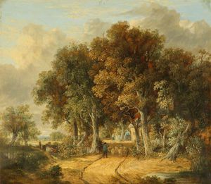 James Stark - Road Scene At Intwood