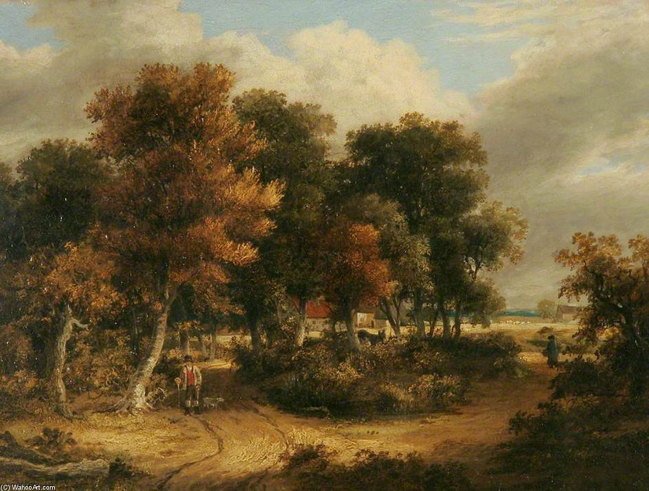 Wood Scene by James Stark (1794-1859, United Kingdom) | Paintings Reproductions James Stark | WahooArt.com