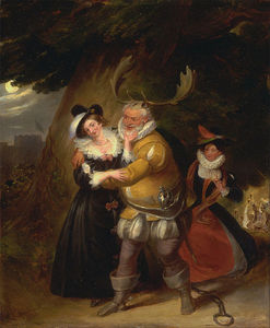 James Stephanoff - Falstaff At Herne's Oak, From 'the Merry Wives Of Windsor'