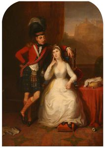 James William Giles - Marriage Portrait Of Lieutenant Colonel James Stewart To Williamina Kerr