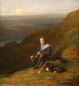 James William Giles - Sir Walter Scott With A Dog