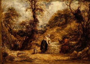 John Linnell - Christ And The Woman Of Samaria At Jacob-s Well