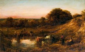 John Linnell - Landscape, Evening