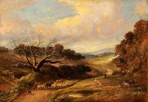 John Linnell - Sheep And Cattle Droving