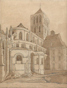 John Sell Cotman - Abbey Church At Fecamp, Normandy
