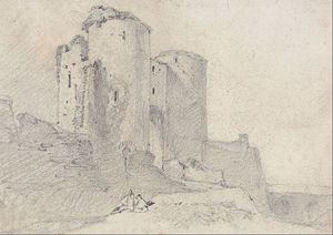John Sell Cotman - Beeston Castle, Cheshire- Entrance To The Castle
