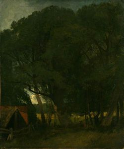 John Sell Cotman - Boat House And Trees