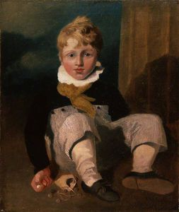 John Sell Cotman - Boy At Marbles (henry Cotman)