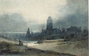 John Sell Cotman - Bristol, With The Church Of St Mary Redcliffe