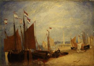 John Sell Cotman - Dutch Boats Off Yarmouth, Prizes During The War