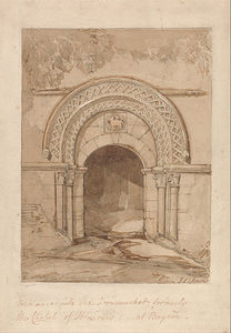 John Sell Cotman - Entrance Into The Cornmarket, Formerly The Chapel Of St. Louis