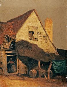 John Sell Cotman - Gable End Of Old Houses, St Albans