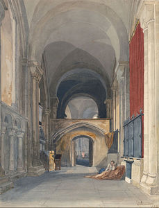 John Sell Cotman - Norwich Cathedral- Interior Of The North Aisle Of The Choir