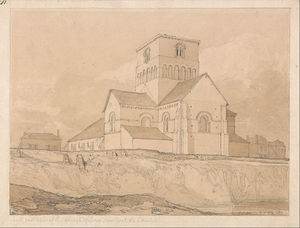 John Sell Cotman - South-east View Of The Church Of Lery, Near Pont-de-l'arche, Normandy