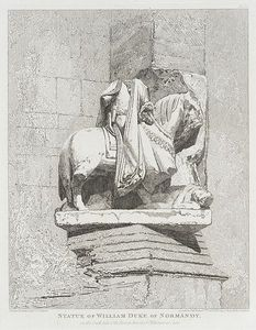 John Sell Cotman - Statue Of William, Duke Of Normandy