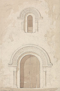 John Sell Cotman - West Doorway And Window In The Church Of Ham Near Valognes, Normandy