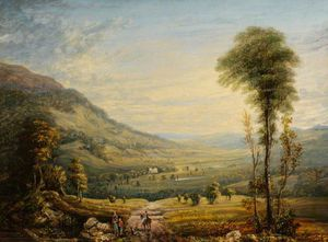 John Varley I (The Older) - View With Leith Hall