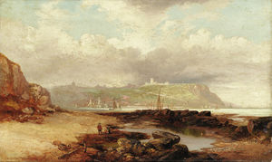 John Wilson Carmichael - A View Of Dover Castle From The Harbor