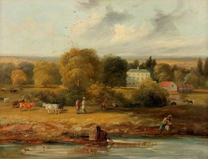 John Wilson Carmichael - Landscape With A Country House