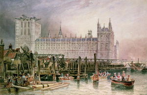 John Wilson Carmichael - The Houses Of Parliament In Course Of Erection