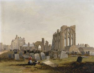 John Wilson Carmichael - Tynemouth Priory From The East -