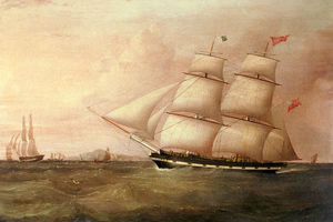 Joseph Heard - The Brig Rapid Inward Bound For Liverpool Off Point Lynas