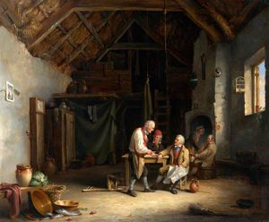 Nicholas Matthew Condy - Discussion In A Barn-tavern