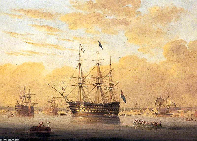 Hms `royal Adelaide` by Nicholas Matthew Condy (1816-1851) | Oil Painting | WahooArt.com