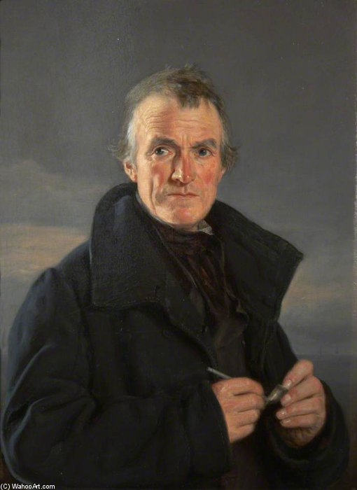 Portrait Of An Old Fisherman by Nicholas Matthew Condy (1816-1851) | Art Reproduction | WahooArt.com