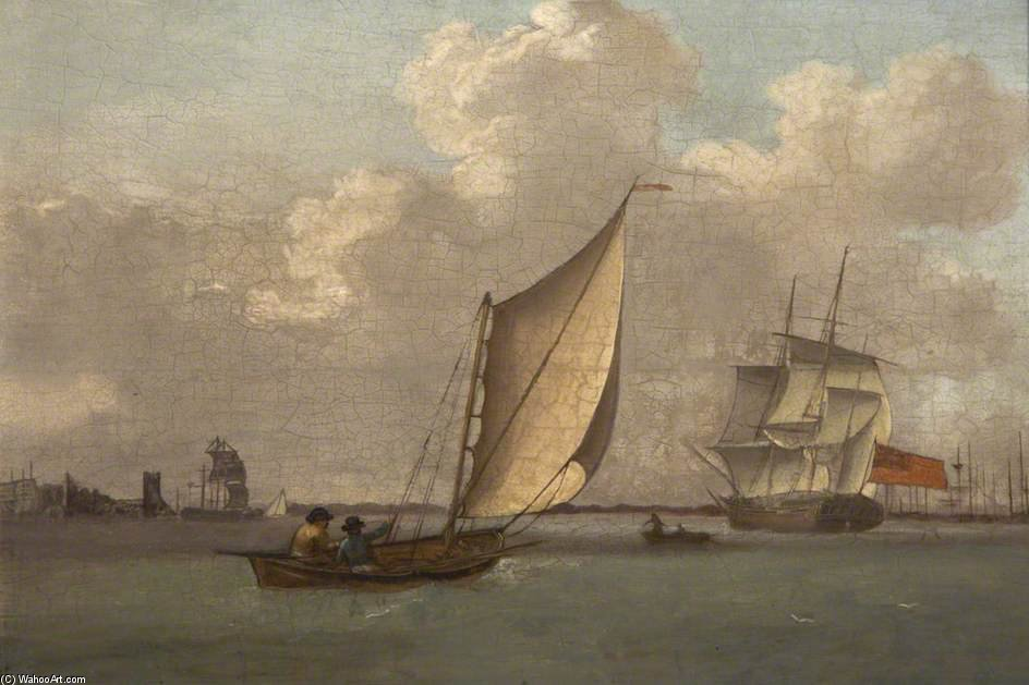 Saltash Passage, Plymouth by Nicholas Matthew Condy (1816-1851) | Oil Painting | WahooArt.com