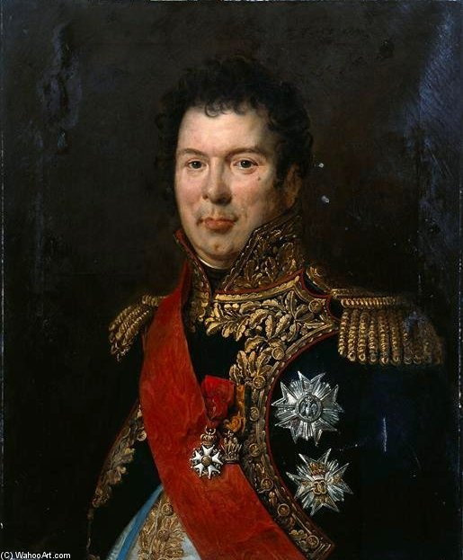 Portrait Of Count Songis Courbons In Full Uniform General by Paulin Jean Baptiste Guerin (1783-1855, France) | Museum Quality Reproductions | WahooArt.com