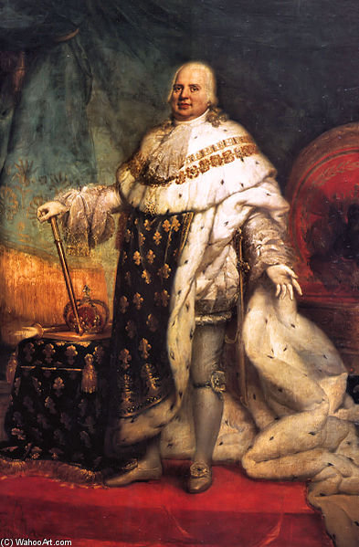 Portrait Of Louis Xviii Of France by Paulin Jean Baptiste Guerin (1783-1855, France)