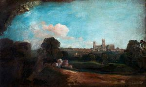 Peter De Wint - A View Of Lincoln From The South At Little Bargate