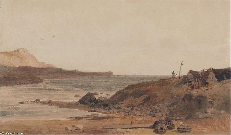 Coast Scene by Peter De Wint (1784-1849, United Kingdom) | Paintings Reproductions Peter De Wint | WahooArt.com